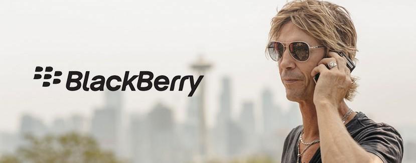 duff mckagan and blackberry video advertisement
