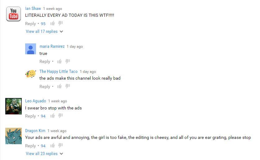 youtube 3 muskateers ads